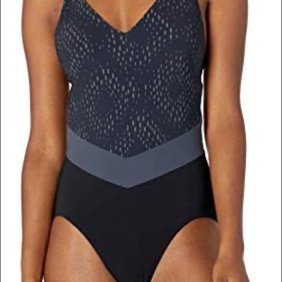 "adidas PrimeBlue Swimsuit, Black & grey Size 30""B"